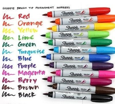Bút Dạ Sharpie Vẽ Đa Chất Liệu Bộ 12 Màu