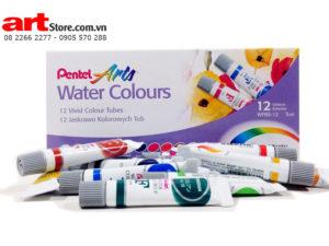 Màu nước Pentel  Water Colors F dạng tuýp 12 màu