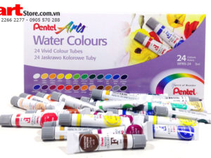 Màu nước Pentel Water Colors F dạng tuýp 24 màu