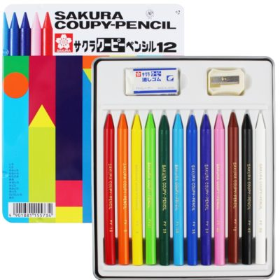 Bút Chì Sáp Màu Thân Nhựa Sakura Coupy Pencils 12 Màu