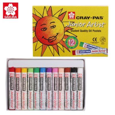 [TK] Bút Sáp Dầu Sakura Craypas Junior Artist 12 Màu