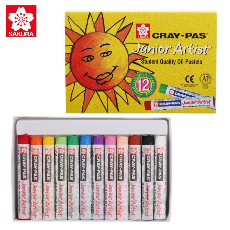 Bút Sáp Dầu Sakura Craypas Junior Artist 12 Màu