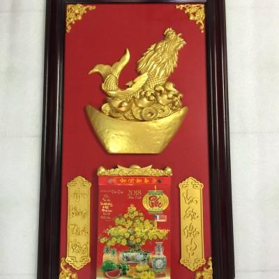 Lịch gỗ phù điêu Kim Ngư