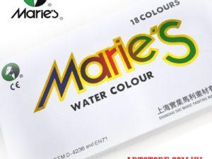 Màu nước Marie set 18 màu tuýp 12ml