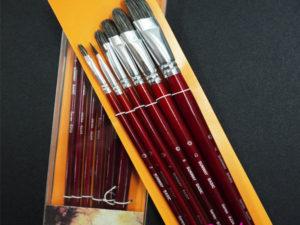 Bộ 6 cọ Sunway series B204 cán đỏ mận