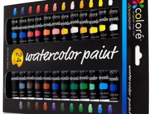 Colore Watercolor Painting Kit, 24 Màu sắc