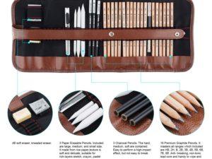 29 mảnh Vẽ & Bộ dụng cụ Vẽ Tranh nghệ thuật