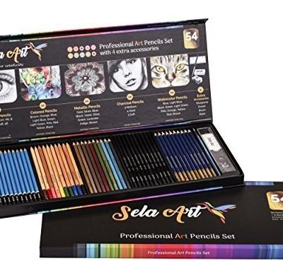 Bộ chì vẽ Sela Art-54 Pcs