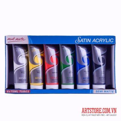 Bộ màu acrylic Mont Marte Satin-6x75ml