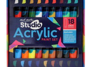 Bộ sơn acrylic Mont Marte Studio 18x36ml