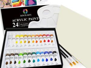 Bộ màu acrylic AEM Hi Arts-24pcs