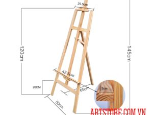Giá vẽ khung gỗ cao cấp xếp gọn 150 cm