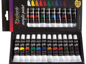 Bộ sơn acrylic Colore, bộ 12x12ml