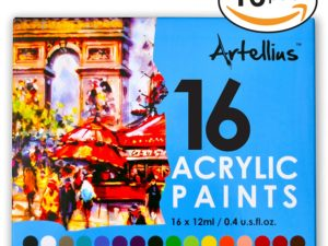 Artellius Acrylic Paint Set 16x12ml