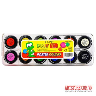 Màu vẽ Hàn Quốc D.A P&T 30ml 12 Colors