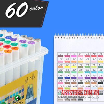 Bộ bút marker Marie's 60 màu