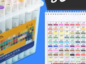 Bộ bút marker Marie's 80 màu