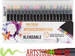 Bộ bút màu nước cao cấp bởi Nu-Tech -21pcs(order)