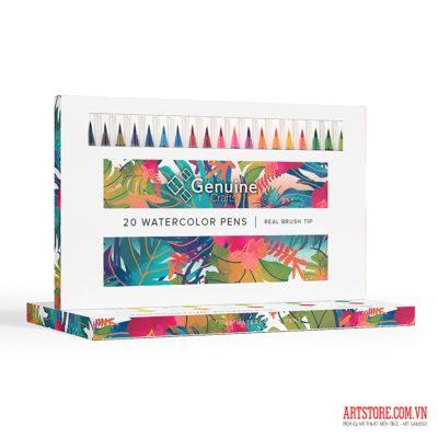 Bộ bút màu nước Genuine Crafts 20pcs(order)