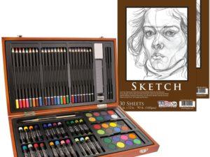Bộ vẽ đa năng US Art Supply 82pcs+2 tập vẽ(order)