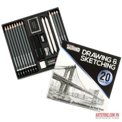 Bộ chì vẽ U.S. Art Supply 20 Piece