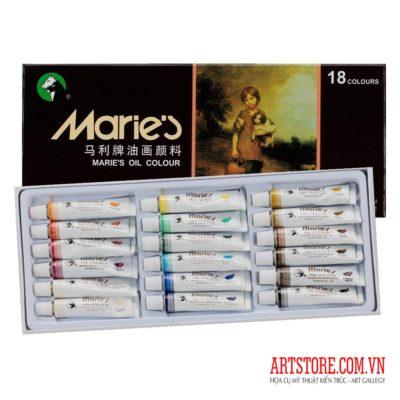 Bộ sơn dầu cao cấp Marie's 18x12ml(order)